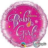 Welcome Baby Girl Stars Qualatex 9