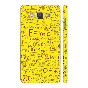 Enthopia Designer Hardshell Case Einstein Energy Yellow Back Cover for Samsung Galaxy E7