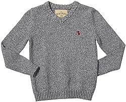 Rose Pistol Little Boys' Kerman V-neck Sweater (Kid) - Flint - 4/5