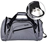 SIYUAN Gym Bag for Men Athletic Duffel Bag Sports Duffle Bag with Shoes Compartment,Gray,Large (Color: C#gray, Tamaño: Large)