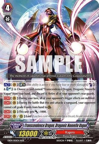 Cardfight!! Vanguard Tcg - Transcendence Dragon Dragonic Nouvelle Vague (Eb09/001En) - Extra Booster Pack 9: Divine Dragon Progression front-725960
