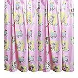 キッズ子供用 ピンクテディーベア子供部屋寝室カーテンセット(2枚入) (168cm x 137cm) (ピンク)