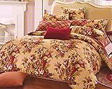 WRAP 100% COTTON DOUBLE BED DUVET SET (1 BEDSHEET 2 PILLOW COVERS & 1 DUVET COVER) CNSD-08