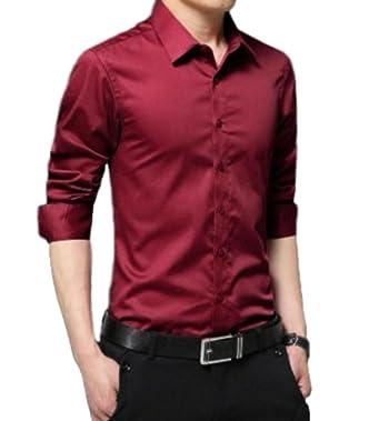 (マジックショップス) メンズ 長袖 ワイシャツ 大きいサイズ ビジネス カジュアル スリム 無地 形態安定 シャツ