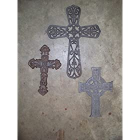 3 pc Cast Iron Cross Set