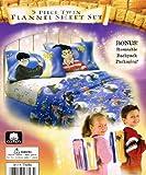 Harry Potter Sorcerer's Stone Twin Flannel Sheet Set + Bonus Backpack!
