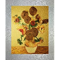 PEA Designs Van Goghs Sunflowers Wall Décor Chinese Su Embroidery Pattern