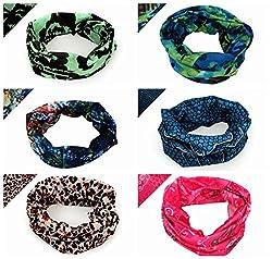 BaiTe 12-in-1 Unisex Magic Scarf 6pcs Bandana Headband Lightweight Running Headwear Seamless Neck Gaiter Sport Scarf Bandana from BaiTe