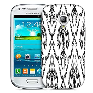 Snoogg Black And White Pattern Printed Protective Phone Back Case Cover For Samsung S3 Mini / S III Mini