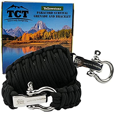 Paracord Grenade And Paracord Bracelet Set By The Camping Trail. Over 21 Ft Of Paracord And 17 Pieces Make This Great Survival Gear To Carry. by TCT