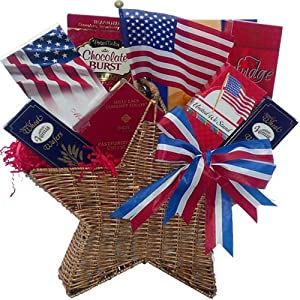 Art of Appreciation Gift Baskets American All Star Patriotic Gourmet Food Summer Gift Set