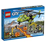 LEGO City Volcano Explorers 60123 Volcano Supply Helicopter Building Kit (330 Piece)