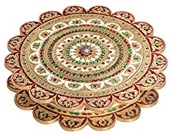 Lavender Craft SUNFLOWER shaped Handmade Meenakari Decorative Platter/Dry Fruit Box - BIG G.M. (12