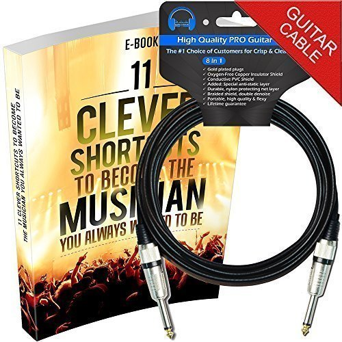 Guitar Cable - The Best Premium Instrument Cord - 10