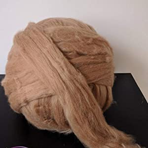 Giant Wool Yarn Chunky Merino Arm Knitting Super Soft Wool Yarn Bulky Wool Roving Khaki 2.2 lbs (Color: Khaki, Tamaño: 2.2 lbs)
