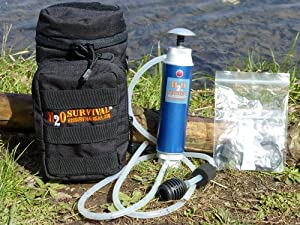 H2O Survival Camping Water Filter (Microfilter) complete with BONUS: Limited Edition... by H2O SURVIVAL(tm)