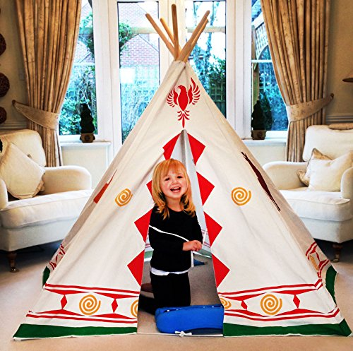 charles-bentley-childrens-indian-tepee-tent-wigwam-wild-west-cowboy-play-tent-den-indoor-outdoor-use