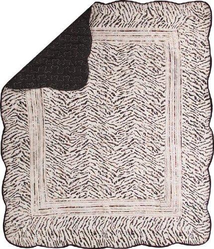 Manual costuras y Weavers de funda de edredón Reversible, diseño de estampado de cebra Wild, 50 de 152,4 cm