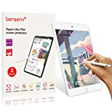 IPad Mini 5 Screen Protector Paperlike 2019, bersem New iPad Mini 5 7.9inch Paperlike Screen Protector (2 Pack) Apple Pencil Compatible Anti Glare with Easy Installation Kit Paper Texture