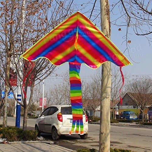 Apollo-Sporting-Colorful-rainbow-kite-cerf-volant-triangulaire-moderne-pour-les-enfants