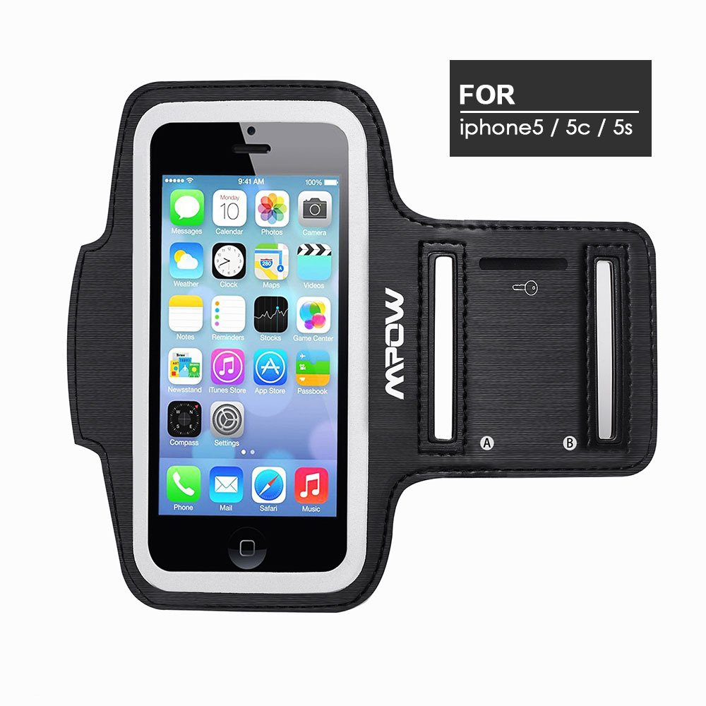 Mpow® Running Sport Sweatproof Armband Case + Key Holder for iPhone 5/5S/5C, iPod Touch 5