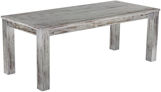 Brasil Mobili Tavolo da pranzo 'Rio classico' 208x 90cm, in legno di pino massiccio, tinta Shabby Eiche