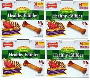 Nylabone Roast Beef /Chicken Variety 136ct Pantry Pack Petite (4x34ct)