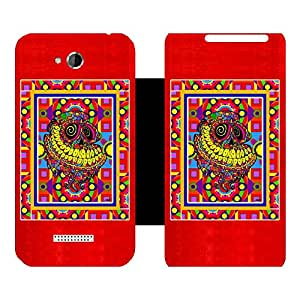 Phone Candy Designer Flip Cover with hi-res printed Vinyl sticker wrap-around for HTC Desire 616 Dual Sim