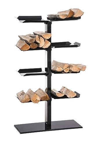 Camino legno supporto Zanka V225x 60x 100nero