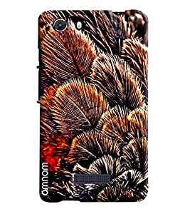 Omnam Leaves Bunch Printed Designer Back Cover Case For Micromax Unite 3