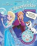Disney Die Eiskönigin - Glitzersticker Anziehpuppenbuch: Zieh Elsa, Anna und ihre Freunde an! Mit mehr als 100 glitzernden Sticker!