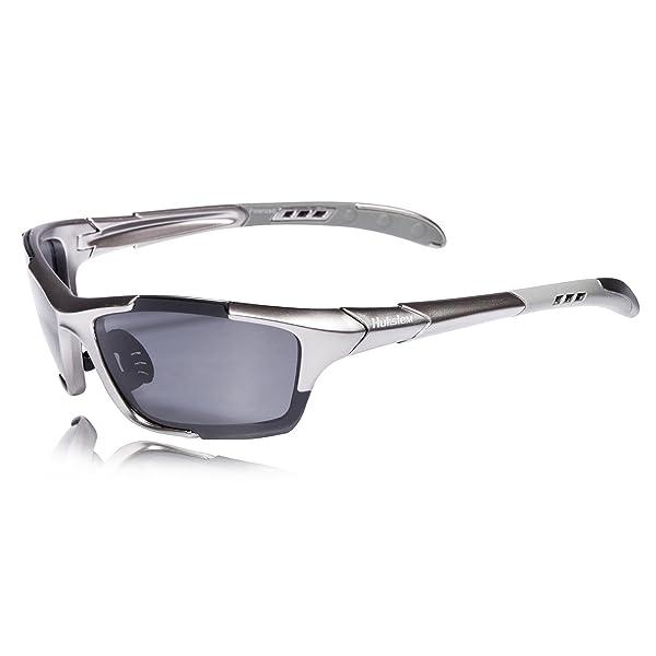 46be16f492 Hulislem S1 Sport Polarized Sunglasses FDA Approved (Gun-Smoke) Sunglasses  for Men Women Mens Womens Sports