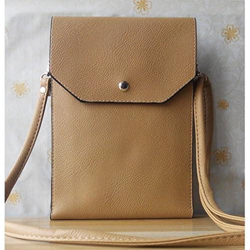 高質PU革製iPad Mini用ポーチ ケース バッグ カバー 化粧ポーチ 小物入れ に便利 (Brown)