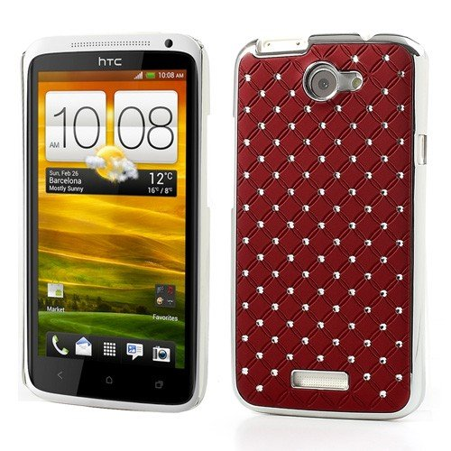 Jujeo Red Starry Sky Diamond Plating Case For Htc One X S720E/One Xl/One X Plus - Non-Retail Packaging