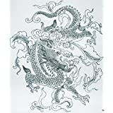 GGSELL GGSELL Hot Selling Extra Large New Design Big Size 7.87 X 8.66 Inches Waterproof Black And White Dragon...