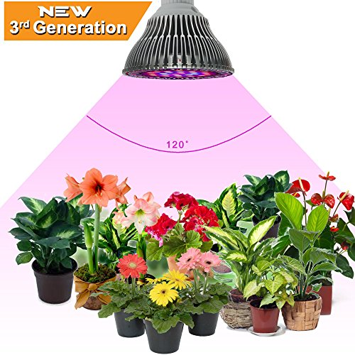 ZOTRON LED Grow Light 24W, Newest 3rd Generation Growing LED Light Bulbs for Hydroponic, Aquaponic, Greenhouse, Indoor Plants, Herbs and Bonsai Trees (Pc Grow Box compare prices)