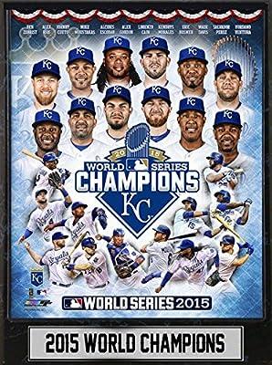 "MLB Kansas City Royals 2015 World Champions Plaque, Blue, 9 x 12"""