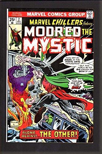 marvel-chillers-2-90-vfnm-1975-modred-the-mystic-white-paper-high-grade
