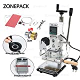 ZONEPACK Hot Foil Stamping Machine with Sliding Positioning Plate Tipper Stamper Bronzing Card Foil Logo Embossing for PVC Leather PU and Paper Stamping (110v) (Tamaño: ZS-110 stamping machine)
