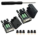 Connector DB9 RS232 D-SUB Male Adapter 9-pin Port Adapter (Male & Female Connector) (Color: Male & Female Connector)