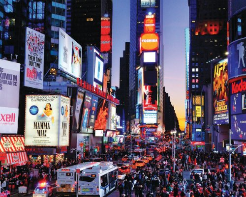 White Mountain Puzzles Time Square - 1000 Piece Jigsaw Puzzle