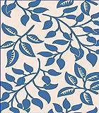 5'x8' Indoor Outdoor Area Rug Beige Blue (5'2