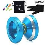 Magic YoYo N8 Dare To Do Unresponsive Pro Yoyos Alloy Aluminum Metal Yo Yo 5 Strings Glove with Yo-yo Bag