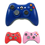 Bek Design Wireless Controller Game Pad Color for Xbox 360 (Blue) (Color: Blue)
