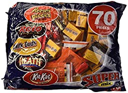 Hershey\'s Super Mix Assortment, 70-Piece Bag, 32.9-Oucne Bag