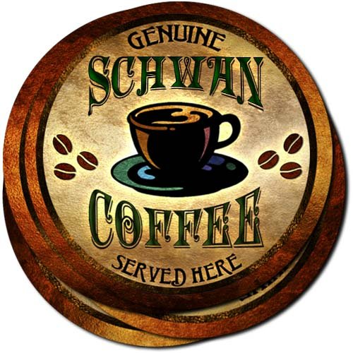 schwan-coffee-neoprene-rubber-drink-coasters-set-of-4