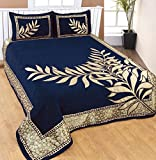 Nine Living Contemporary Chennile Bedding Set- Blue (Set Of 3)