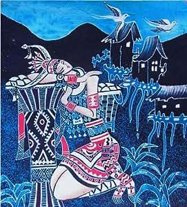 Cinese batik popolare tribal arte pittura 40x45cm parete - Vendere casa popolare riscattata ...
