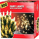 20 40 100 200 300 400 CHRISTMAS LIGHTS DECORATION INDOOR FAIRY XMAS NEW (300 CLEAR FAIRY LIGHTS)