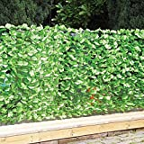 Faux-Ivy Privacy Fence 3M Roll Screen Artificial Outdoor Décor Green